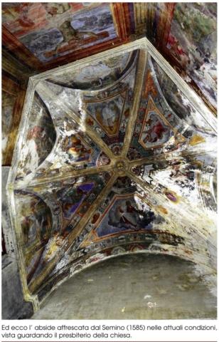 interno chiesa San Giacomo savona affresco degrado abbandono rovinato
