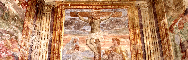 affresco crocefisso san giacomo savona abside semino